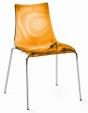Стол Zebra прозрачно оранжев