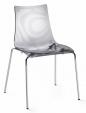 Стол Zebra прозрачно сив