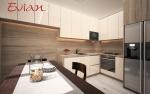 Проект за кухня и дневна-апартамент в София, кв. манастирски лив