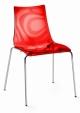 Стол Zebra прозрачно червен