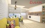 Проект за кухня и дневна-апартамент в София, Зона Б-5